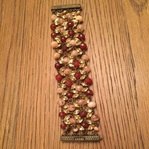 J. Crew Rhinestone and Glass Beaded Bracelet